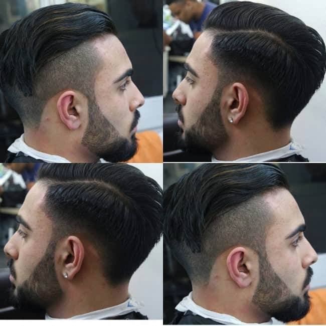 Side Undercut With Fade Hairstyle