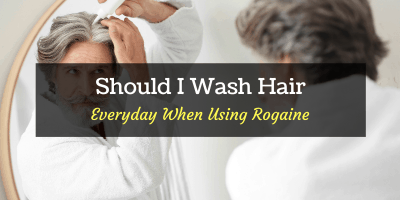 wash hair everyday when using rogaine