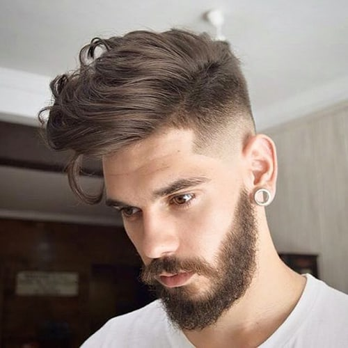 Long Wavy Undercut Hairstyle