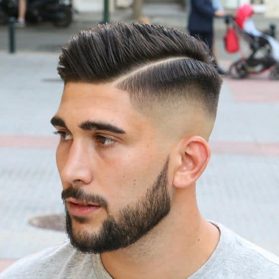 short fade hair men