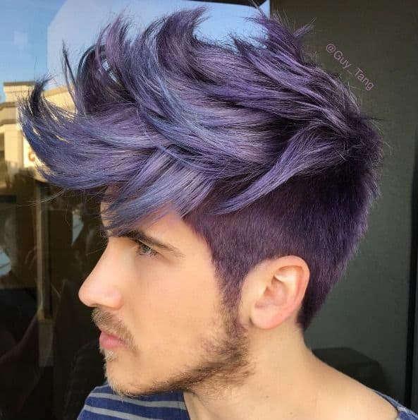 what does purple hair dye fade to